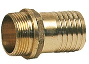 "BRASS HOSE ADAPTOR MALE 1/2"" X 20"