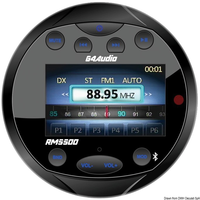 GUSSI FM/BLUETOOTH/USB/MP3 INST PANEL RADIO